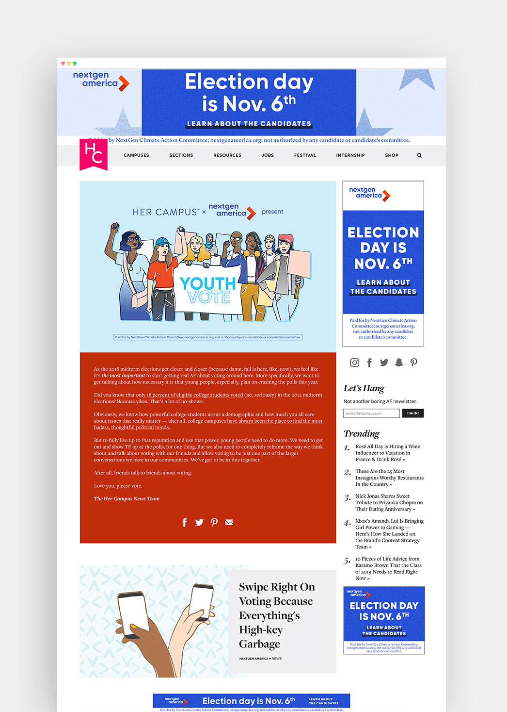Youth Vote Content Hub